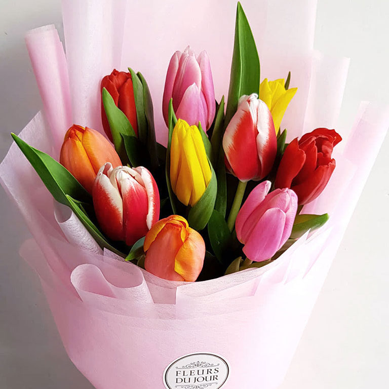 10-stems-Assorted-Tulips-Bouquet
