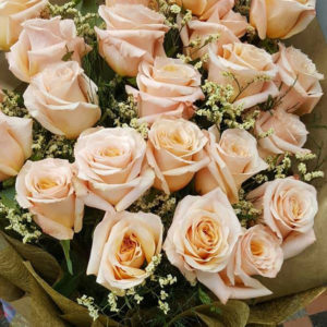 2-doz-Peach-Roses-Bouquet