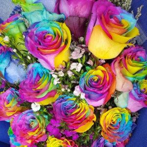 Tinted Roses Bouquets - Fleurs Du Jour
