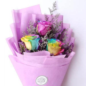 3-stems-Rainbow-Roses-Bouquet
