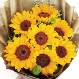 7-stems-Sunflower-Bouquet