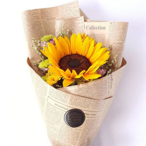 Single-Sunflower-Bouquet