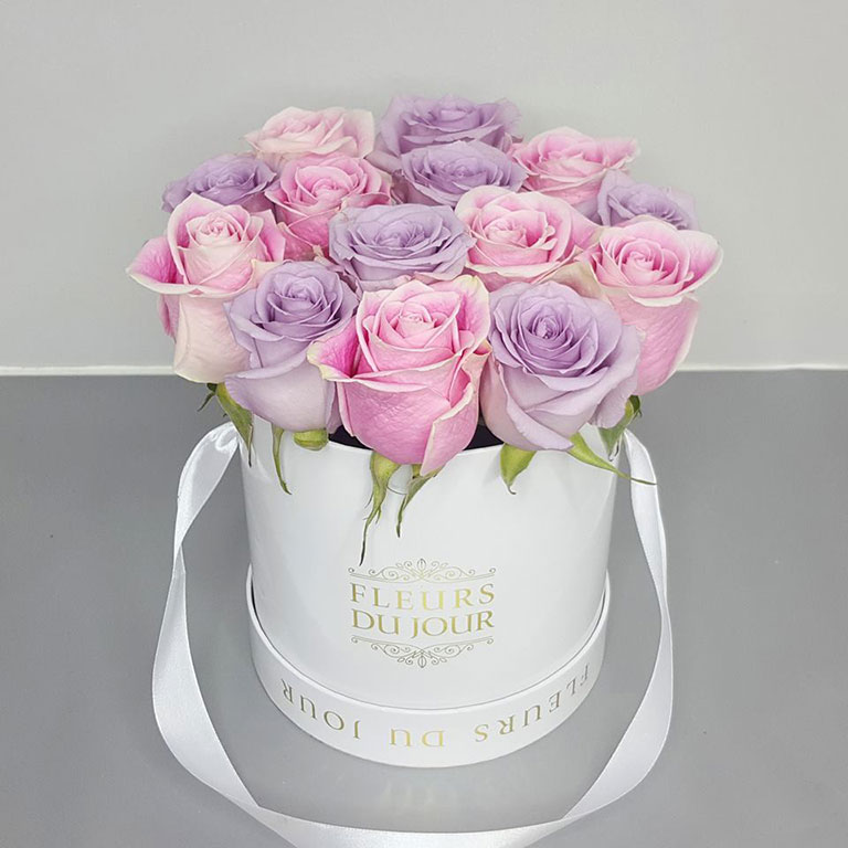 Small-Luxury-Box-with-Pink-&-Purple-Roses